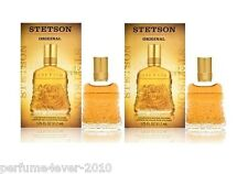 2 X STETSON ORIGINAL BY COTY MEN 1.75 OZ AFTER SHAVE SPLASH NIB EQUAL 3.5 OZ