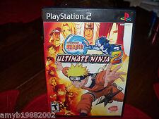 Naruto: Ultimate Ninja 2 (Sony PlayStation 2, 2007) EUC FREE USA SHIPPING