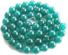 "Green Agate 10mm Round Gemstone Beads 15"""