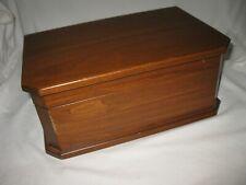 VINTAGE CHERRY DIAMOND CROWN HUMIDOR BOX BY REED & BARTON