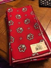Vera Bradley RED BANDANA Dinner Fabric Napkin New NWT Retired FREE SHIPPING