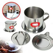 New Stainless Steel Vietnamese Coffee Drip Filter Maker Infuser Set 5.5 x 6.5 cm