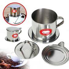 New Stainless Steel Vietnamese Coffee Drip Filter Maker Infuser Set 5.5 x 6.5 cm