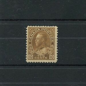 #118 ten cent Bistre Brown Fine MNH Cat $75 Admiral issue  Canada mint
