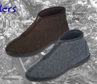 COOLERS MENS HERRINGBONE ZIP BOOT / SLIPPERS / INDOOR SHOES / BRAND NEW