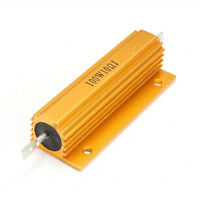 1/2/4/8/10 Ohm 100W Watt Power Wire Wound Resistor Golden Aluminum Alloy Housed