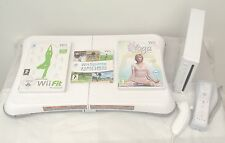 Wii CONSOLE+Wii FIT+53 GAMES AND ACTIVITIES INCLUDING A FREE  YEARS WARRANTY