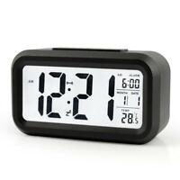 Digital Snooze Electronic Calendar Alarm Clock with LED Backlight Control   #G