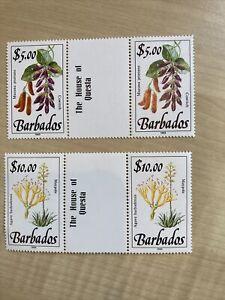 Barbados Stamps 1989 Imprint SG 904-5