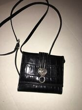 Brighton Wallet On A String Black Leather