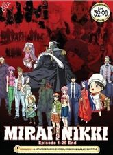 DVD Japan Anime Mirai Nikki The Future Diary Series Vol 1-26+OVA Eng Audio