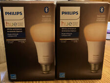 Philips Hue White Ambiance 2-Pack A19 LED Smart Bulb, Bluetooth