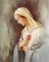 """8""""x10"""" Catholic Picture Print Blessed Virgin Mary, MYSTICAL ROSE Rose Mystica"""