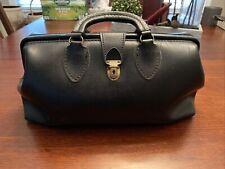 Vintage black leather doctor's bag