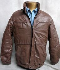 OLEG CASSINI MEN'S SIZE 40 BEAUTIFUL BROWN LEATHER COAT/JACKET!