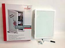 Zeller 13840 Schlüssel-/Memo-Box, MDF/Glas Memoboard, weiß, 22 x 5 x 30 cm