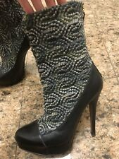 Rare Runway Missoni Tweed/Leather Boots (Size 37)
