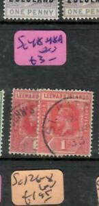 LEEWARD ISLANDS (PP0105B)  KGV  1D  SG 48,48A       VFU