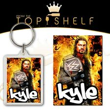 Personalised Roman Reigns Wrestling keyring / bag tag any name