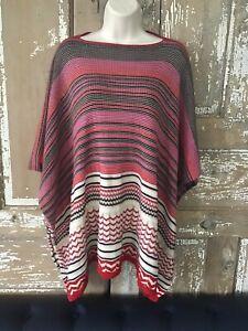 Missoni Italy Wool Blend  Poncho Sweater One Size Orange Label