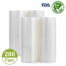 4 Pack Vacuum Seal Bags Roll 8�x50' Embossed Food Saver Sealer Storage Bag 4 Mil
