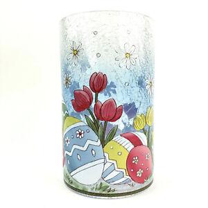 Yankee Candle Jar Holder Easter Spring Crackle Glass Hurricane