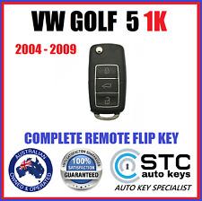 VW VOLKSWAGON GOLF 5 1K  COMPLETE REMOTE TRANSPONDER  KEY 2003 2004 2005 2006