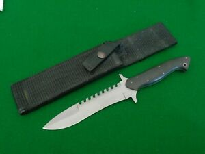 RARE c.1980's Pacific Cutlery Corp TIMBA Survival Fighting Knife Sawteeth