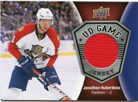 16/17 UPPER DECK UD GAME JERSEY JONATHAN HUBERDEAU PANTHERS *42413