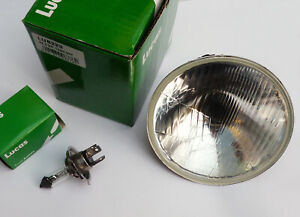 "Lucas LUB223 Classic Car 5 3⁄4"" Headlamp & P43T H4 Bulb for Rover Jaguar Triumph"