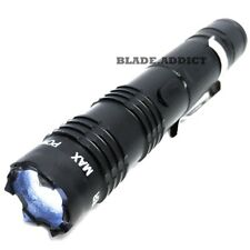 ALL Metal POLICE Stun Gun 260 Million Volt Rechargeable LED Flashlight + Charger
