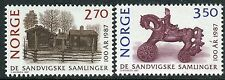 NORWAY 1987 MAIHAUGEN OPEN-AIR MUSEUM/ART/SCULPTURE/FARM/HORSE/RIDER/ARCHITECTUR