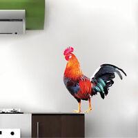 Rooster Wall Decal Farm Bird Wall Vinyl Hen Cockadoodledo Kitchen Wall Art, c70