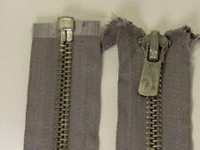 """FBN HEAVY Duty METAL Silver TEETH  Separating Zipper #8 OPEN END 29"""" 74.5cm GRAY"""