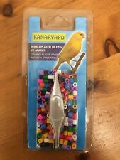 More details for bird rings - pack of 250  plastic rings with iron ap for finches/canaries