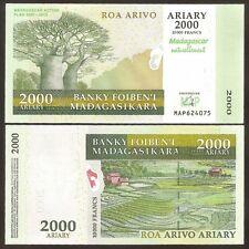 MADAGASCAR 2000 Ariary 2007 Commemorative UNC P 93