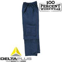 Trade Waterproof Rain Over Trousers Delta Plus Cargo Pockets Elasticated Waist