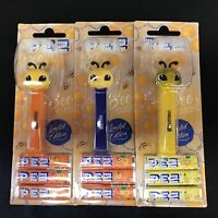 PEZ Bee's European Set of 3 Yellow Crystal Included