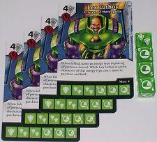 4 X LEX LUTHOR: CITIZEN OF METROPOLIS 55 World's Finest DC Dice Masters