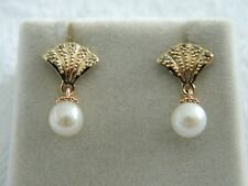 Clogau 9ct Yellow & Rose Gold Windsor Pearl Stud Earrings RRP £250.00