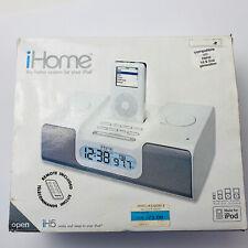 IHome Ih5 Alarm Clock Radio Apple iPod Home System White NEW IN BOX Nano 1st 2nd