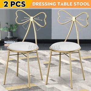 2x Dressing Table Stool Velvet Chair Bedroom Makeup Vanity Back Sea
