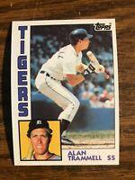 1984 Topps  #510 Alan Trammell  Detroit Tigers  Hall of Fame   NrMt