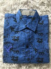 Boys Formal Shirt Blue Age 14 years Size XL Kids UK Party Wedding Long Sleeve