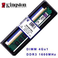 4 GB Kingston DDR3 SDRAM PC3-12800 (DDR3-1600) CL11 Desktop DIMM Memory 240-Pin