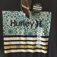 Hurley Premium Modern Fit Borderline Tee Shirt Black Men's Large NWT