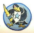 RARE US Air Force Vietnam Era Military Patch Black Bird Holding Shield & BoltPatches - 104015