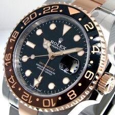 Rolex GMT-Master II Black Men's Rose Gold/Stainless Steel Bracelet Watch - 126711CHNR