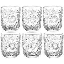 Leonardo Wasserglas Fiorita, Glas, 10x8 cm, 6 Stück, SaftgläserGläser Gläserset