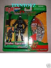 G.I. JOE vs. COBRA SPY TROOPS Collection__SNAKE EYES figure and MISSION DISC_MIP